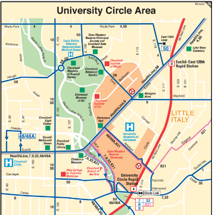 case western reserve university campus map Tours Cultural Technical Isfa 2016 case western reserve university campus map