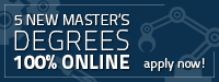 5 new master's degrees 100% online — apply now!