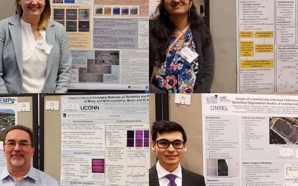 Jennifer Braid, Sameera Venkat, Roger French and Raymond Wieser with their award winning posters