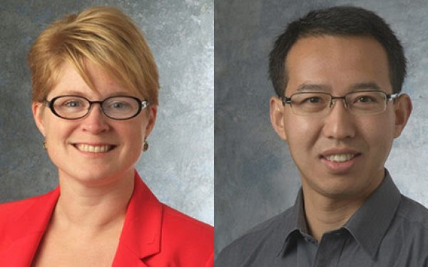 Photo of Jennifer Carter and Philip Feng