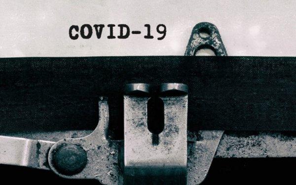 COVID-19 on typewriter
