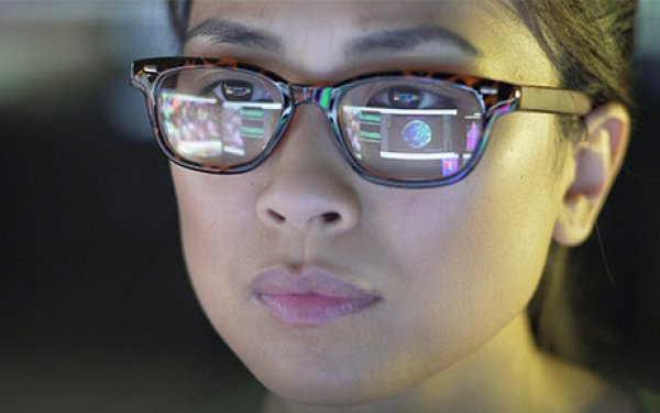 Woman at computer screen