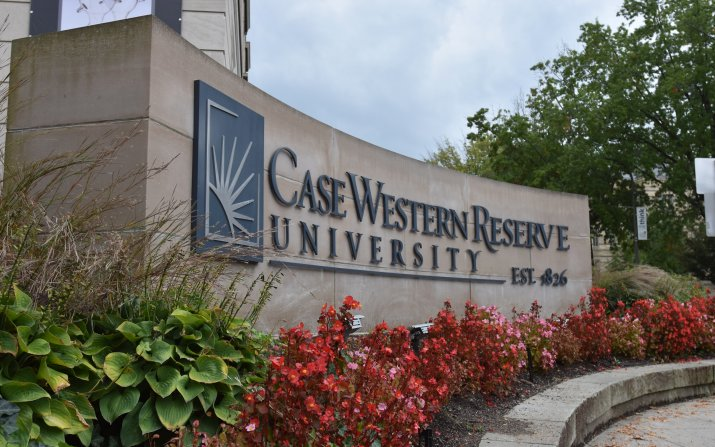 Image of CWRU front sign