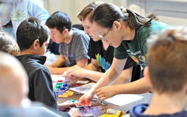 Students doing engineering activities
