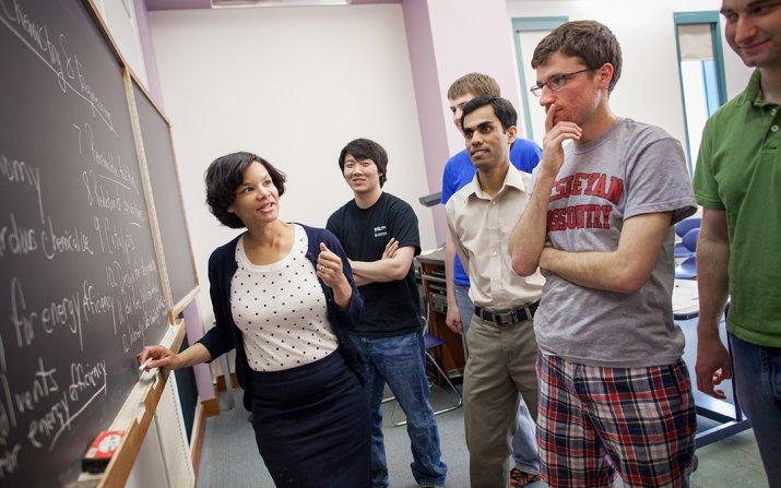 LaShanda Korely in the classroom
