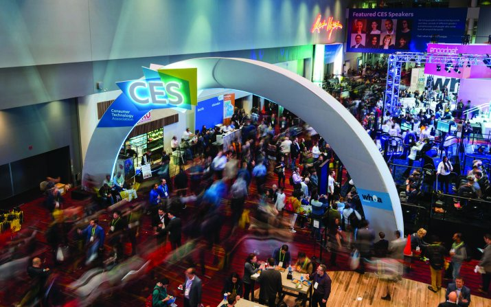 Crowd scene at CES 2017