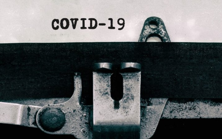 COVID-19 on typewriter