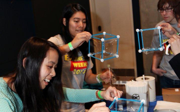 Students volunteering at Engineering Challenges Carnvial