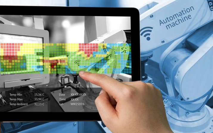 tablet and robotic arm
