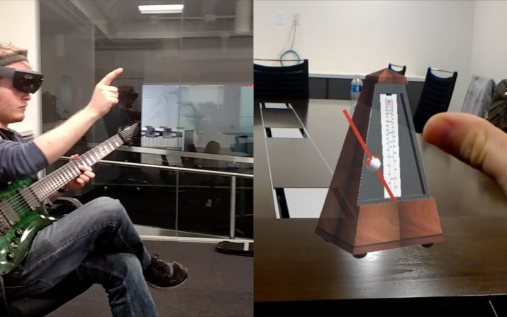 Students experiment with HoloLens metronome app