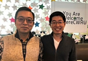 Two Case Western Reserve graduate students who developed a better bandage