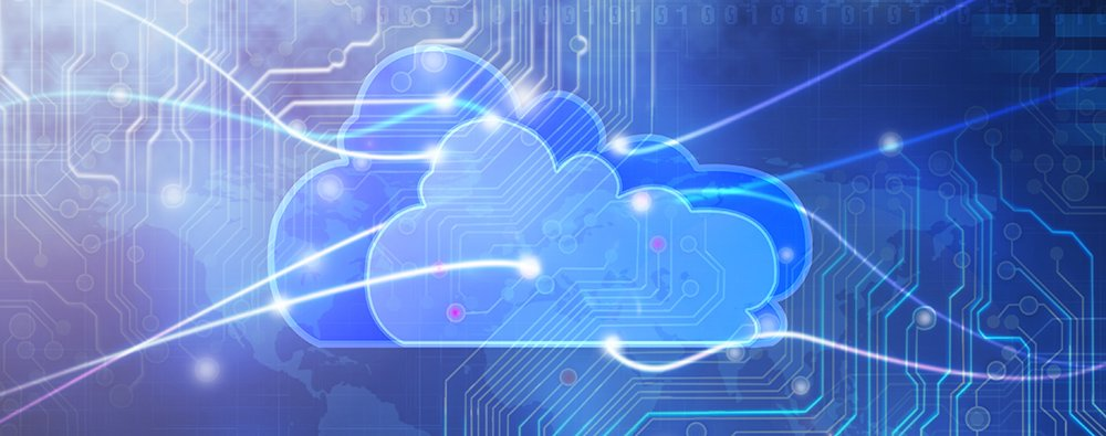 illustration of cloud computing and data