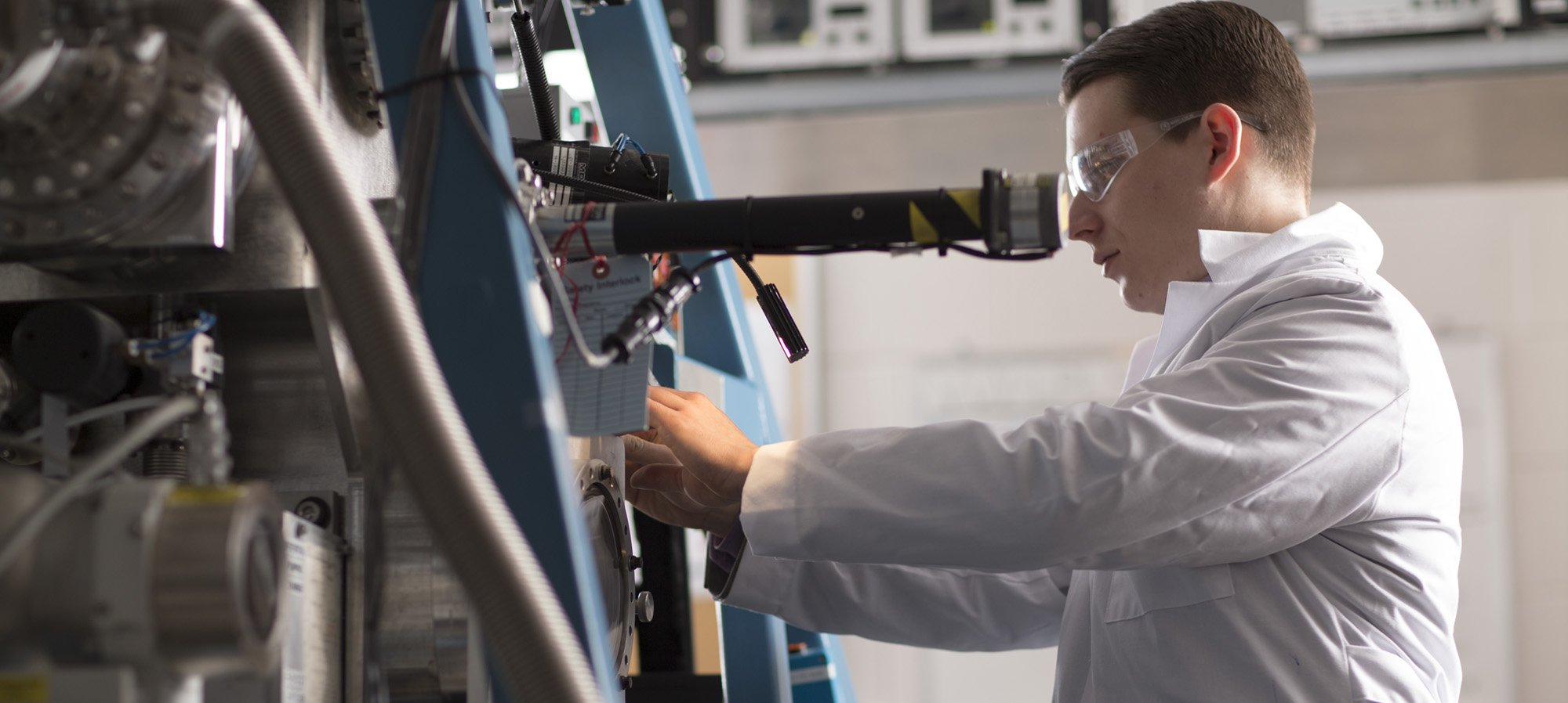 materials student working in SDLE Research Center