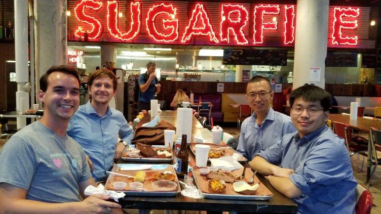 PhD candidate David Scannapieco, CWRU alum Adam Krajewski, postdoc scholar Zhe Ren and CWRU alum Daniel Hong