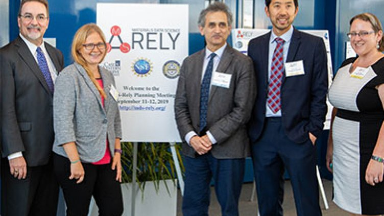 The MDS-Rely team (from left): Roger French, Laura Bruckman, Satish Iyengar, Paul Leu and Liza Allison