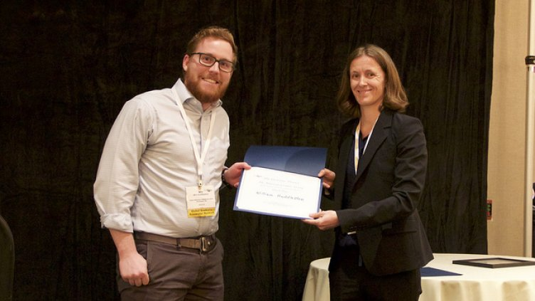 Case Western Reserve materials science student Will Huddleston receives award
