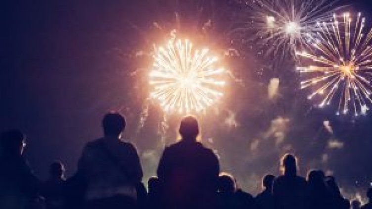 Image of people watching fireworks
