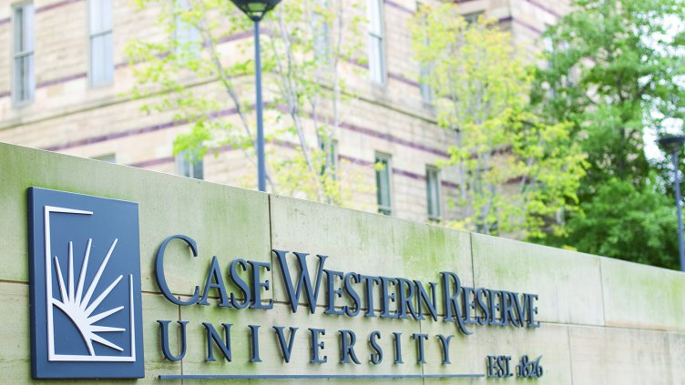 Case Western Reserve sign