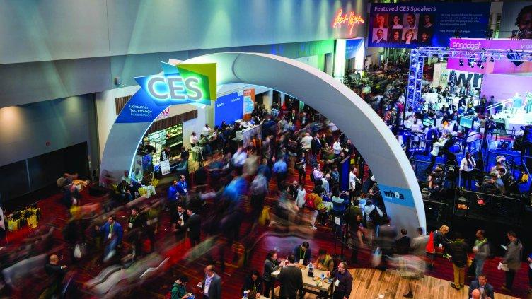 Crowd scene at CES 2017