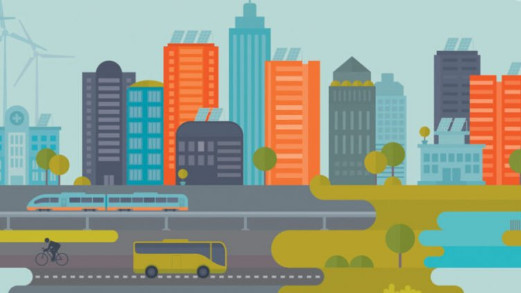 illustration of a city