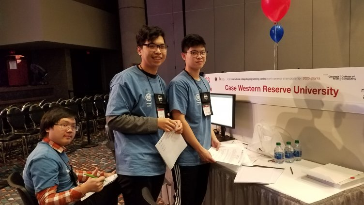 Hung Vu, Duc Huy Nguyen and Trung Nguyen at the North American Championship (NAC) of the International Collegiate Programming Contest