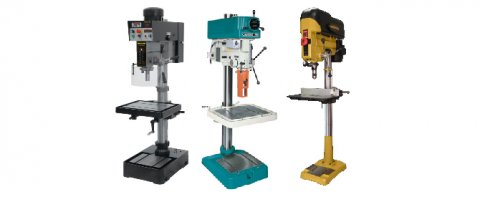 Three drill presses