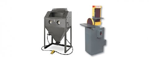 A sand blaster and combination sander