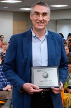 Roger Quinn receiving 2019 Faculty Distinguished Research Award