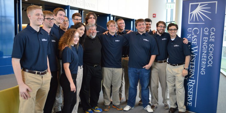 ACM Association for Computing Machinery student group with Apple co-founder Steve Wozniak