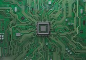 Close up image of a microchip